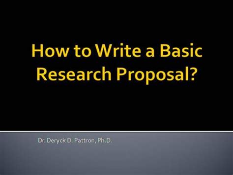 The Proposal Writers Guide: Overview ORSP
